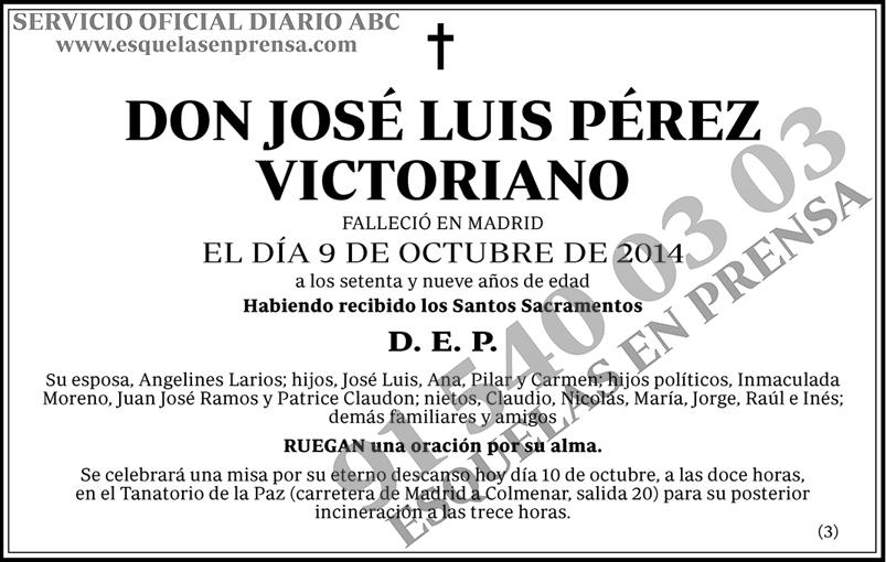 José Luis Pérez Victoriano